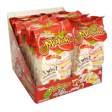 TIANS TWIST MALLOW GUMMY FILLED STRAWBERRY FLAVOUR