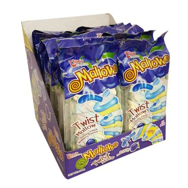 TIANS TWIST MALLOW GUMMY FILLED BLUEBERRY FLAVOUR