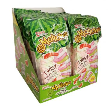 TIANS TWIST MALLOW GUMMY FILLED WATERMELON FLAVOUR